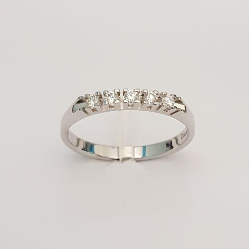 Anello Veretta DonnaOro DKAV0637.015 in Oro Bianco e Diamanti