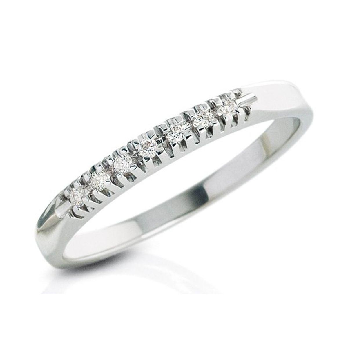 Anello Veretta DonnaOro DKAV0638.007 in Oro Bianco e Diamanti