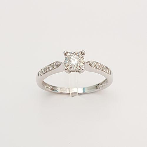 Anello DonnaOro DKAC2394.015 in Oro Bianco con Diamanti
