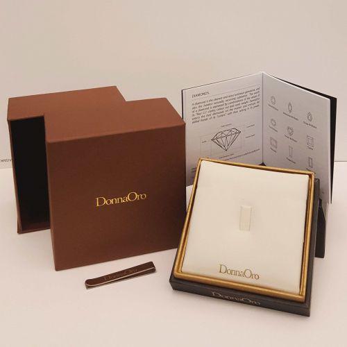 Anello Solitario DonnaOro DKAS1924.009 in Oro Bianco con Diamante
