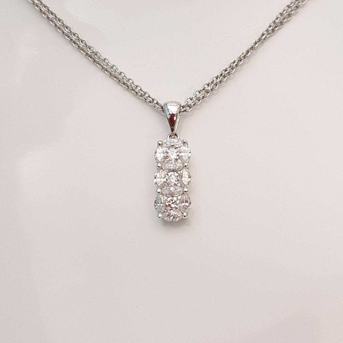 Collana DonnaOro Trilogy in Oro Bianco e Diamanti DIPF0718.073
