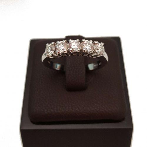 Anello Veretta DonnaOro DGV0001.100 in Oro Bianco e Diamanti da 1 Carato