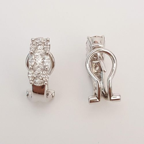 Orecchini Trilogy DonnaOro DR00363.82 in Oro Bianco e Diamanti