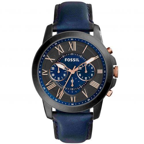 Orologio Fossil Grant FS5061 Blu e Nero