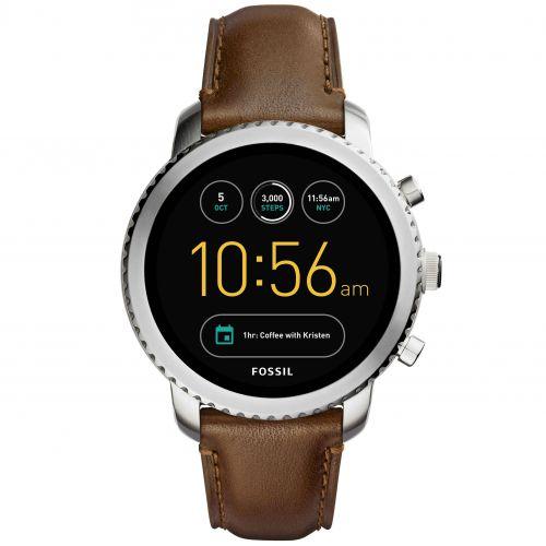 Smartwatch Fossil Q Explorist FTW4003 da Uomo in Pelle