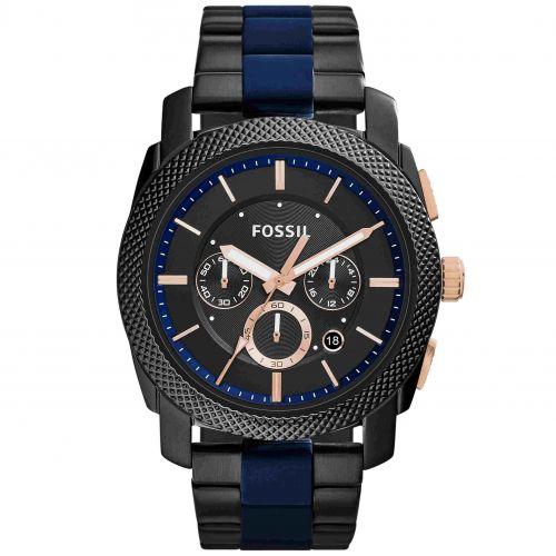 Orologio Fossil Machine FS5164 Cronografo da Uomo Nero e Blu