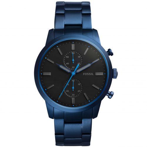 Orologio Fossil Townsman FS5345 Cronografo Uomo in Acciaio Blu