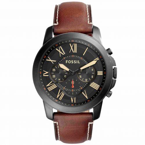 Orologio Fossil Grant FS5241 Cronografo con Cinturino in Pelle