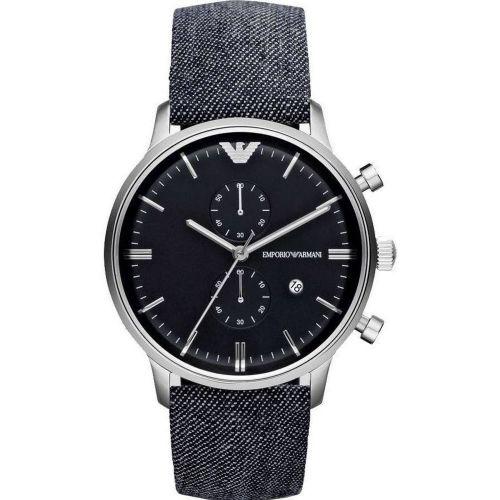 Orologio Emporio Armani Gianni AR1690 Cronografo con Cinturino in Jeans