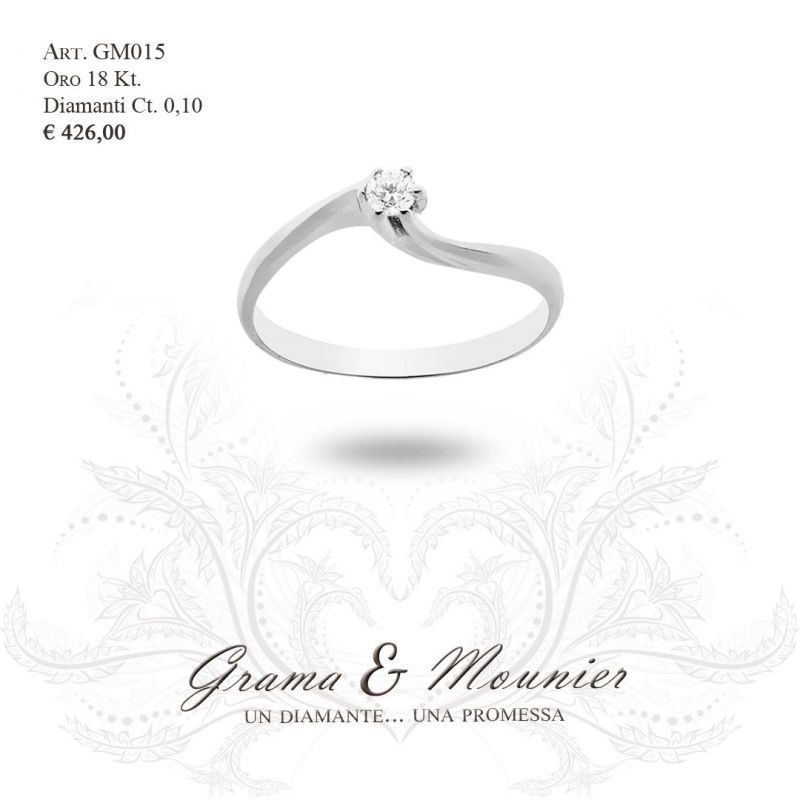 Anello Solitario in oro 18Kt Grama&Mounier Art.GM015