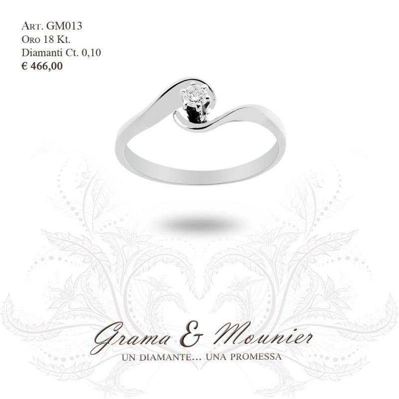 Anello Solitario in oro 18Kt Grama&Mounier Art.GM013