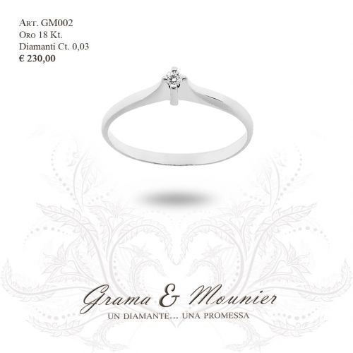 Anello in oro 18Kt. Grama&Mounier Art.GM002