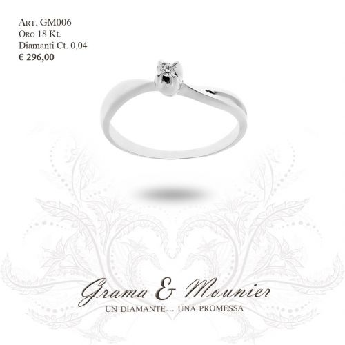 Anello in oro 18Kt. Grama&Mounier Art.GM006