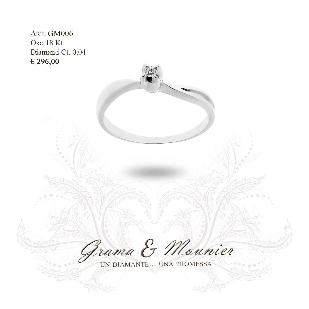 Anello in oro 18Kt. Grama&Mounier Art.GM006
