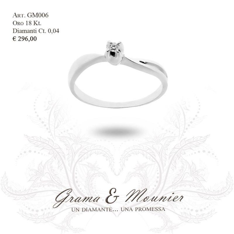 Anello Solitario in oro 18Kt Grama&Mounier Art.GM006