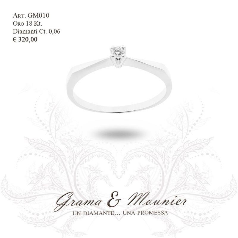 Anello Solitario in oro 18Kt Grama&Mounier Art.GM010
