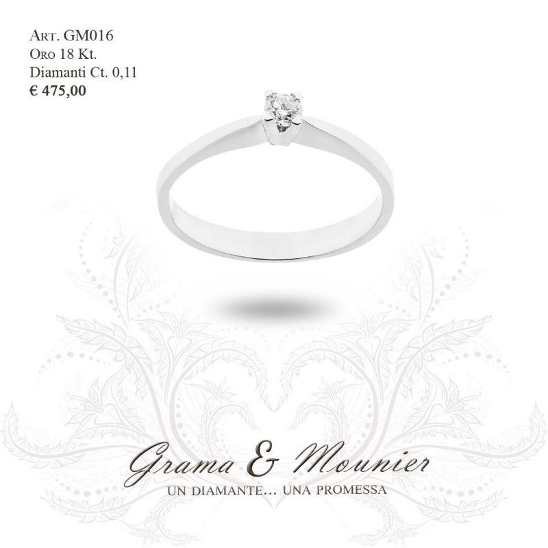 Anello Solitario in oro 18Kt Grama&Mounier Art.GM016