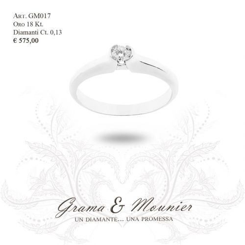Anello Solitario in oro 18Kt Grama&Mounier Art.GM017