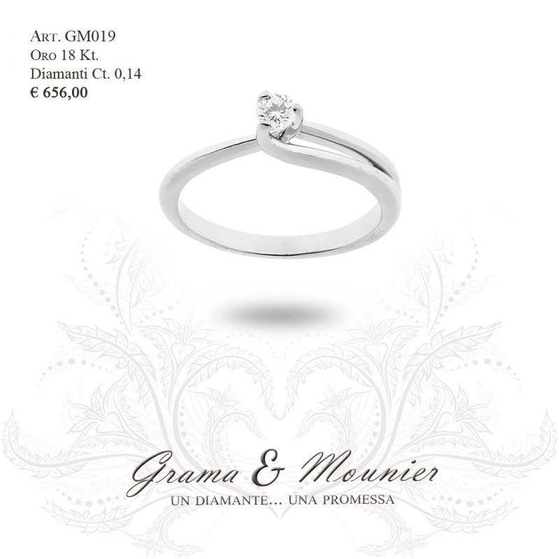 Anello Solitario in oro 18Kt Grama&Mounier Art.GM019