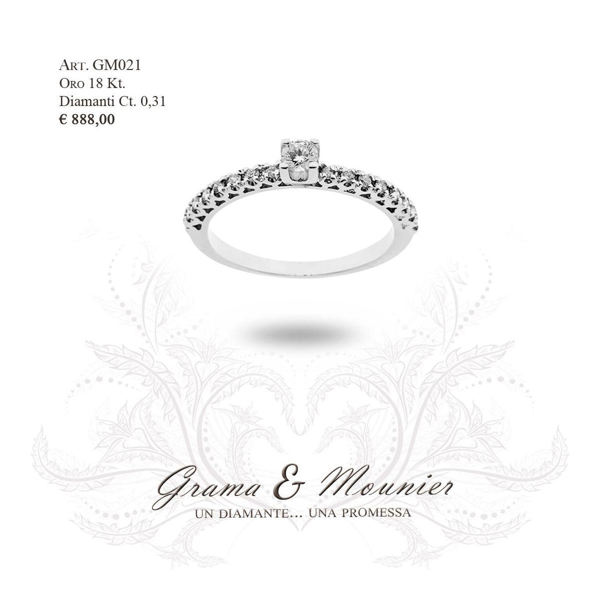 Anello in oro 18Kt. Grama&Mounier Art.GM069