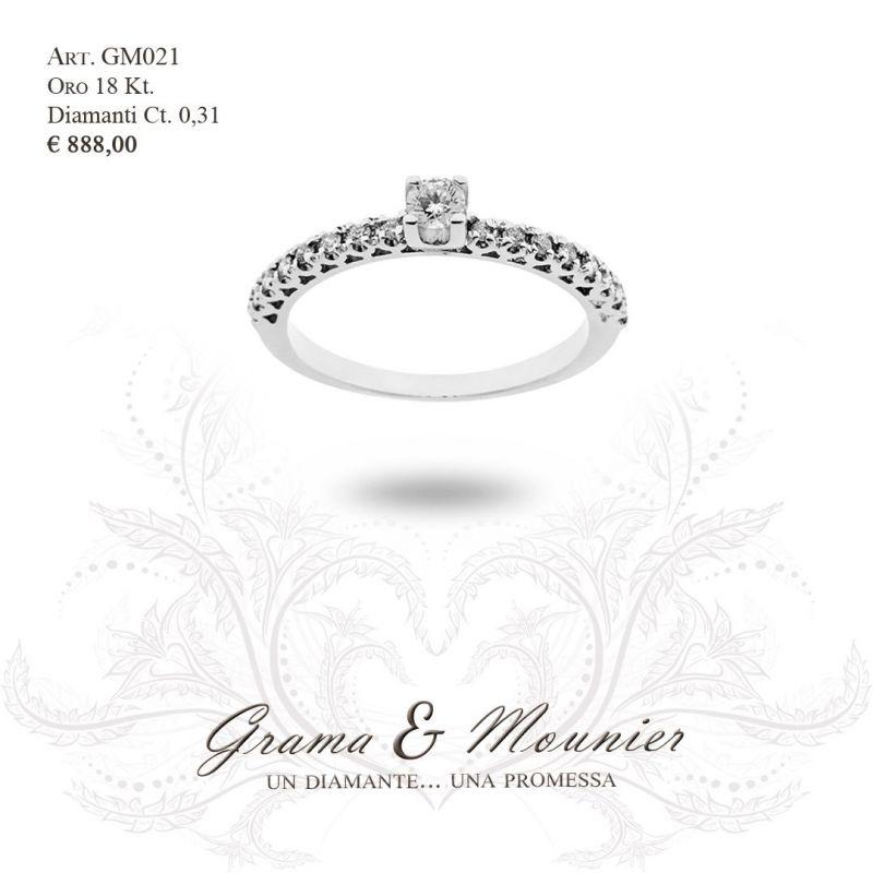 Anello Solitario in oro 18Kt Grama&Mounier Art.GM021