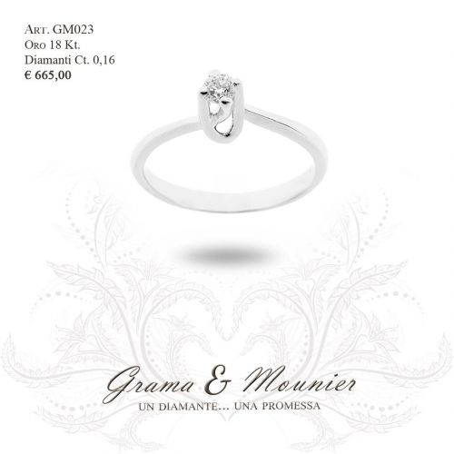 Anello in oro 18Kt. Grama&Mounier Art.GM023