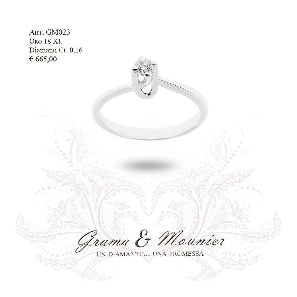Anello in oro 18Kt. Grama&Mounier Art.GM023