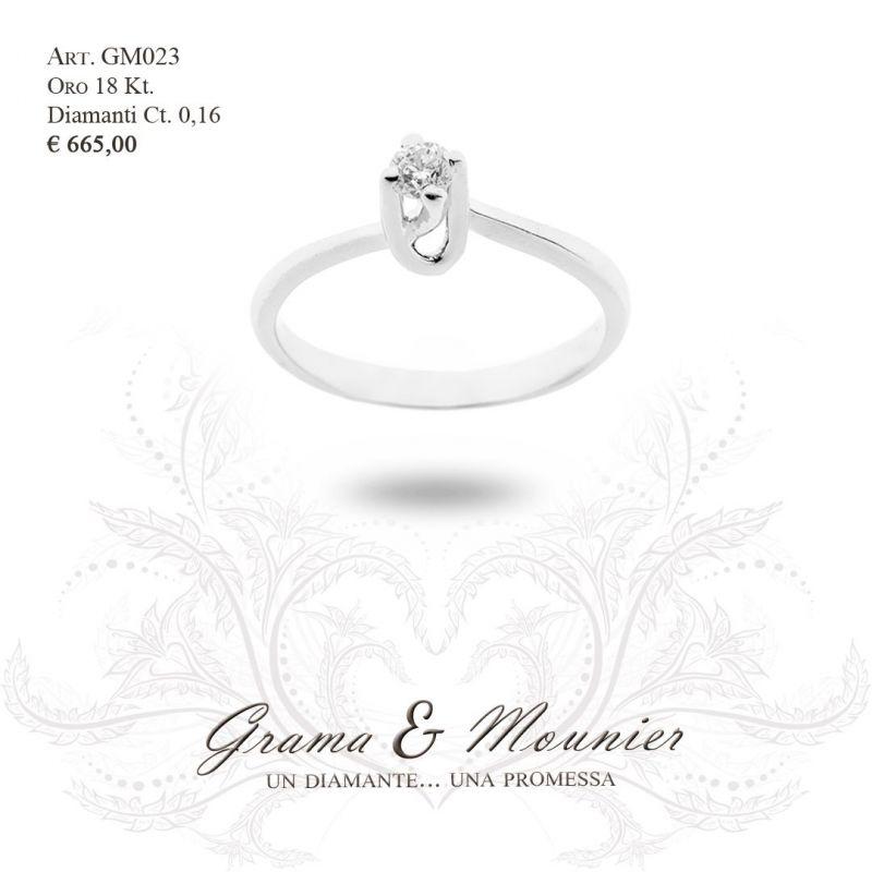 Anello Solitario in oro 18Kt Grama&Mounier Art.GM023
