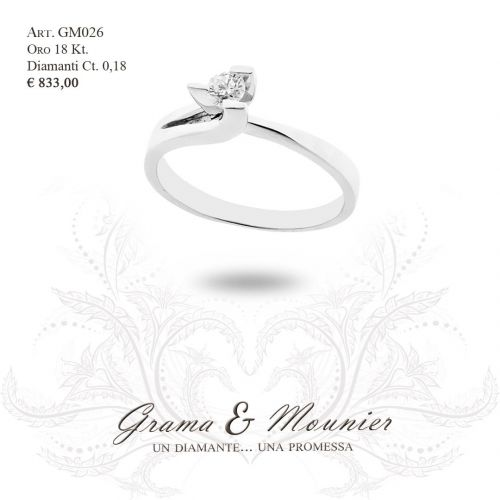 Anello in oro 18Kt. Grama&Mounier Art.GM069