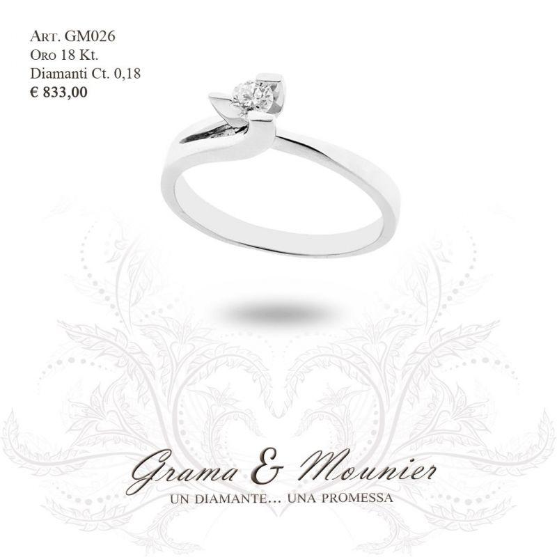 Anello Solitario in oro 18Kt Grama&Mounier Art.GM026