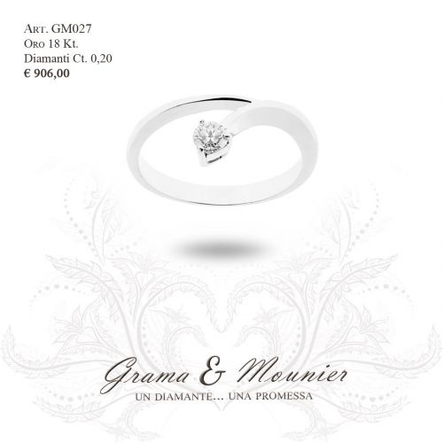 Anello in oro 18Kt. Grama&Mounier Art.GM027