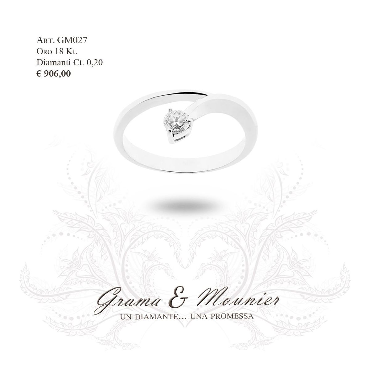 Anello in oro 18Kt. Grama&Mounier Art.GM027