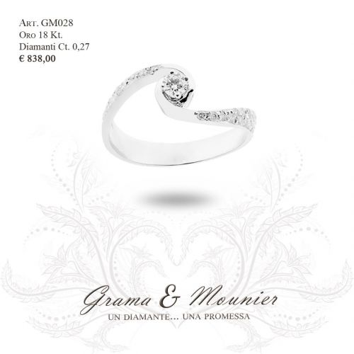 Anello in oro 18Kt. Grama&Mounier Art.GM028