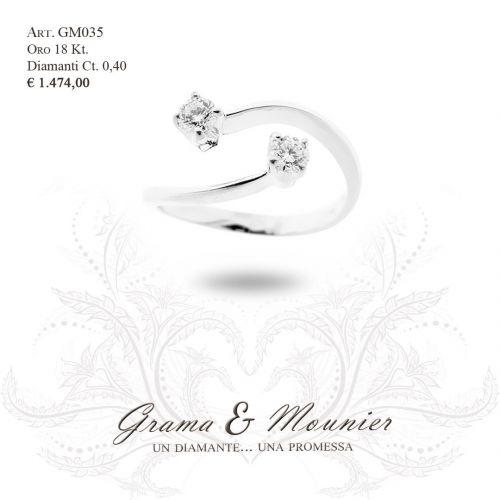 Anello in oro 18Kt. Grama&Mounier Art.GM035