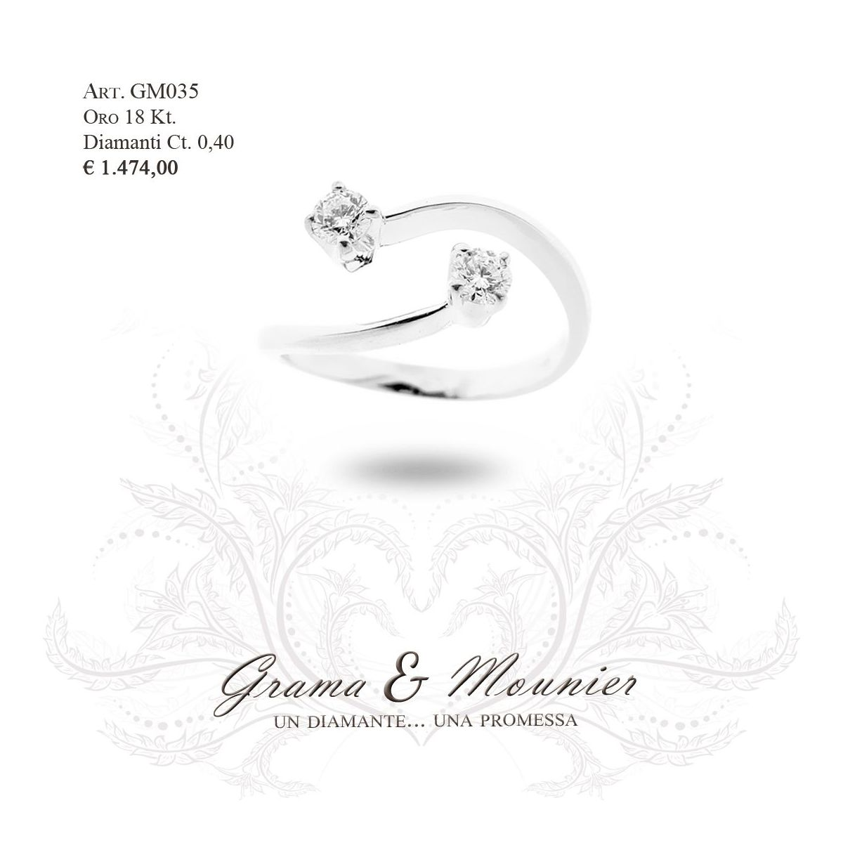 Anello in oro 18Kt. Grama&Mounier Art.GM035