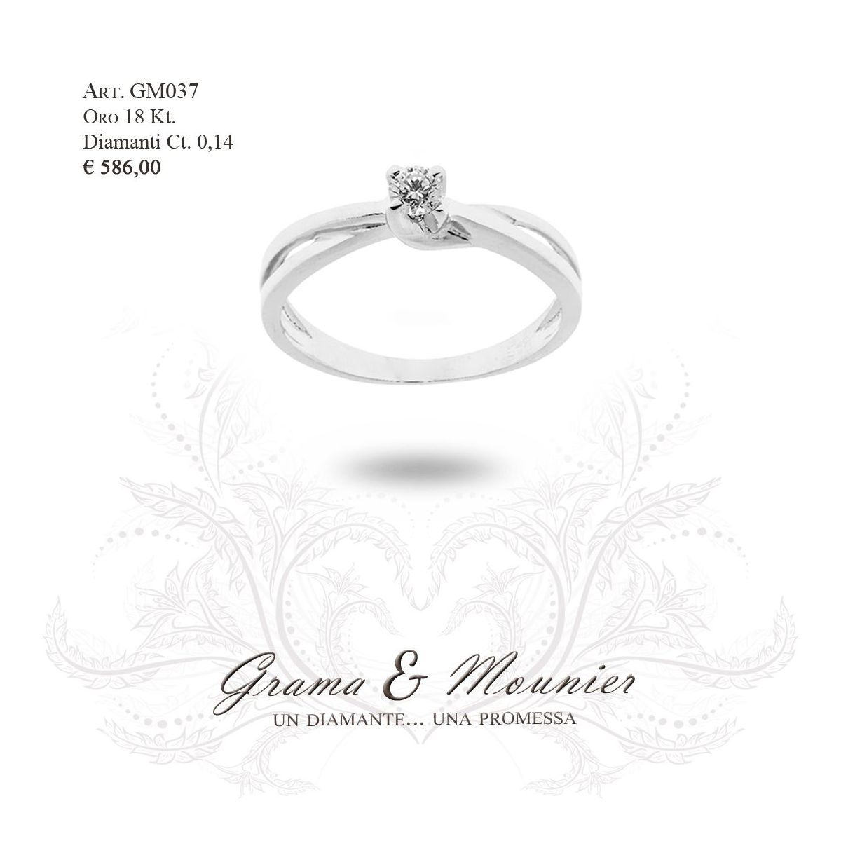 Anello in oro 18Kt. Grama&Mounier Art.GM037