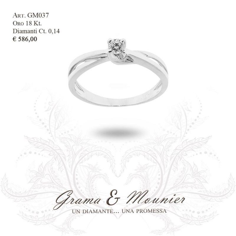 Anello Solitario in oro 18Kt Grama&Mounier Art.GM037