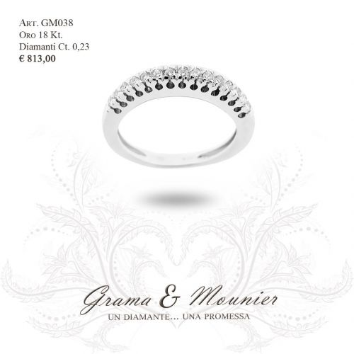 Anello in oro 18Kt. Grama&Mounier Art.GM038