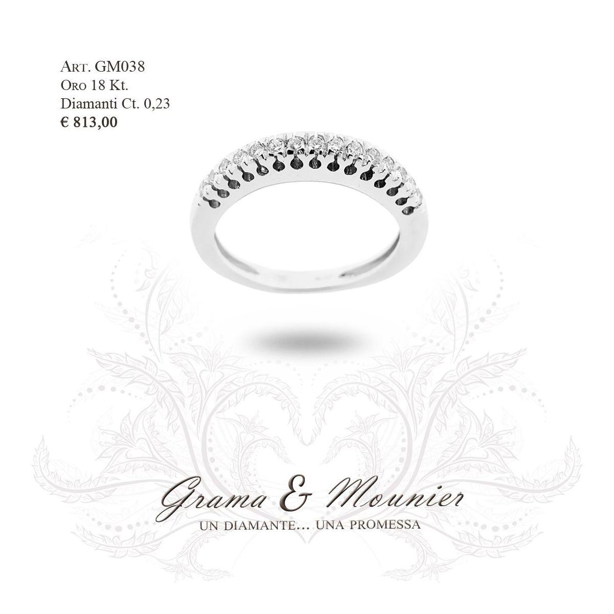Anello in oro 18Kt. Grama&Mounier Art.GM038