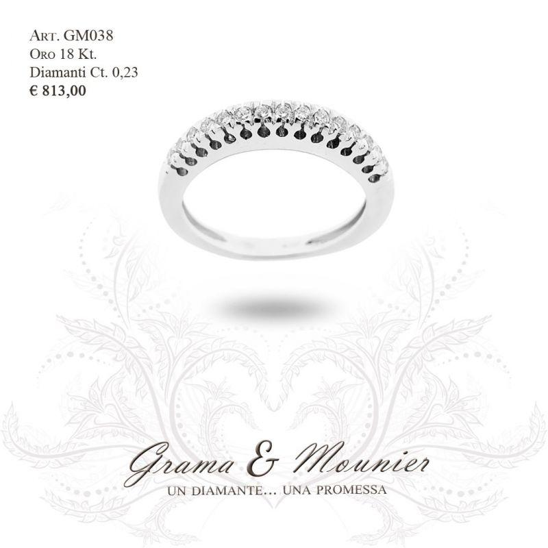 Anello Veretta in oro 18Kt Grama&Mounier Art.GM038