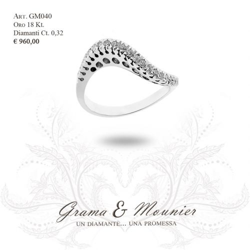 Anello Veretta in oro 18Kt Grama&Mounier Art.GM040