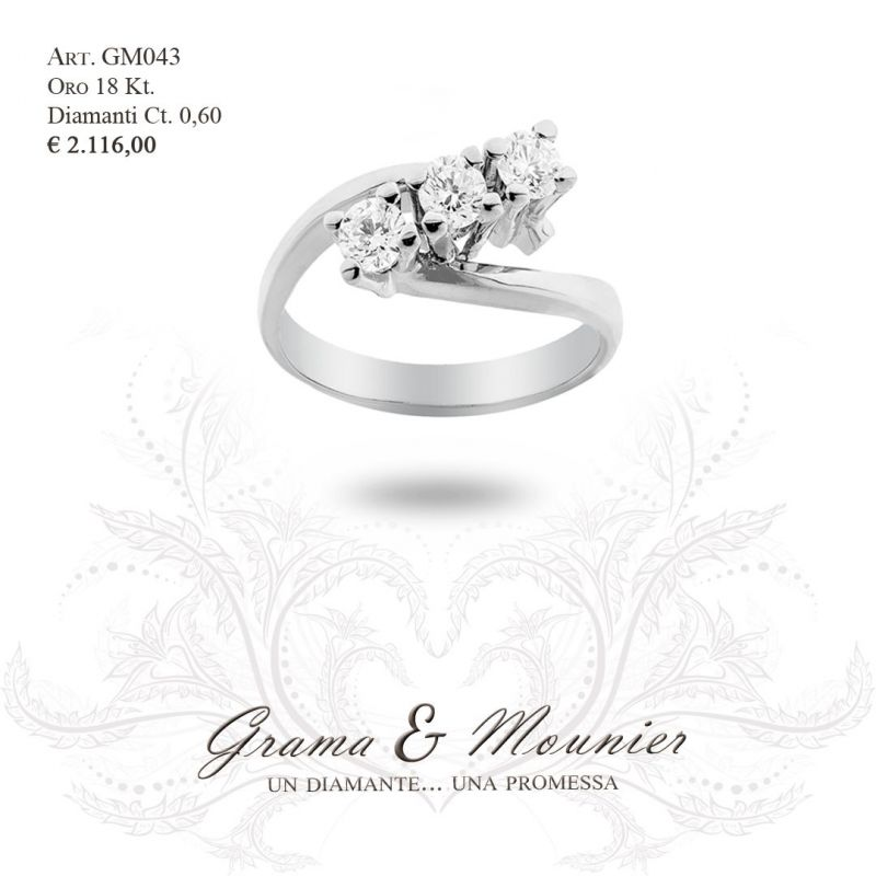 Anello Trilogy in oro 18Kt Grama&Mounier Art.GM043