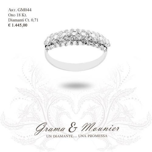 Anello Veretta in oro 18Kt Grama&Mounier Art.GM044