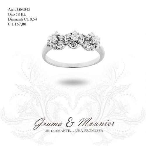 Anello Trilogy in oro 18Kt Grama&Mounier Art.GM045