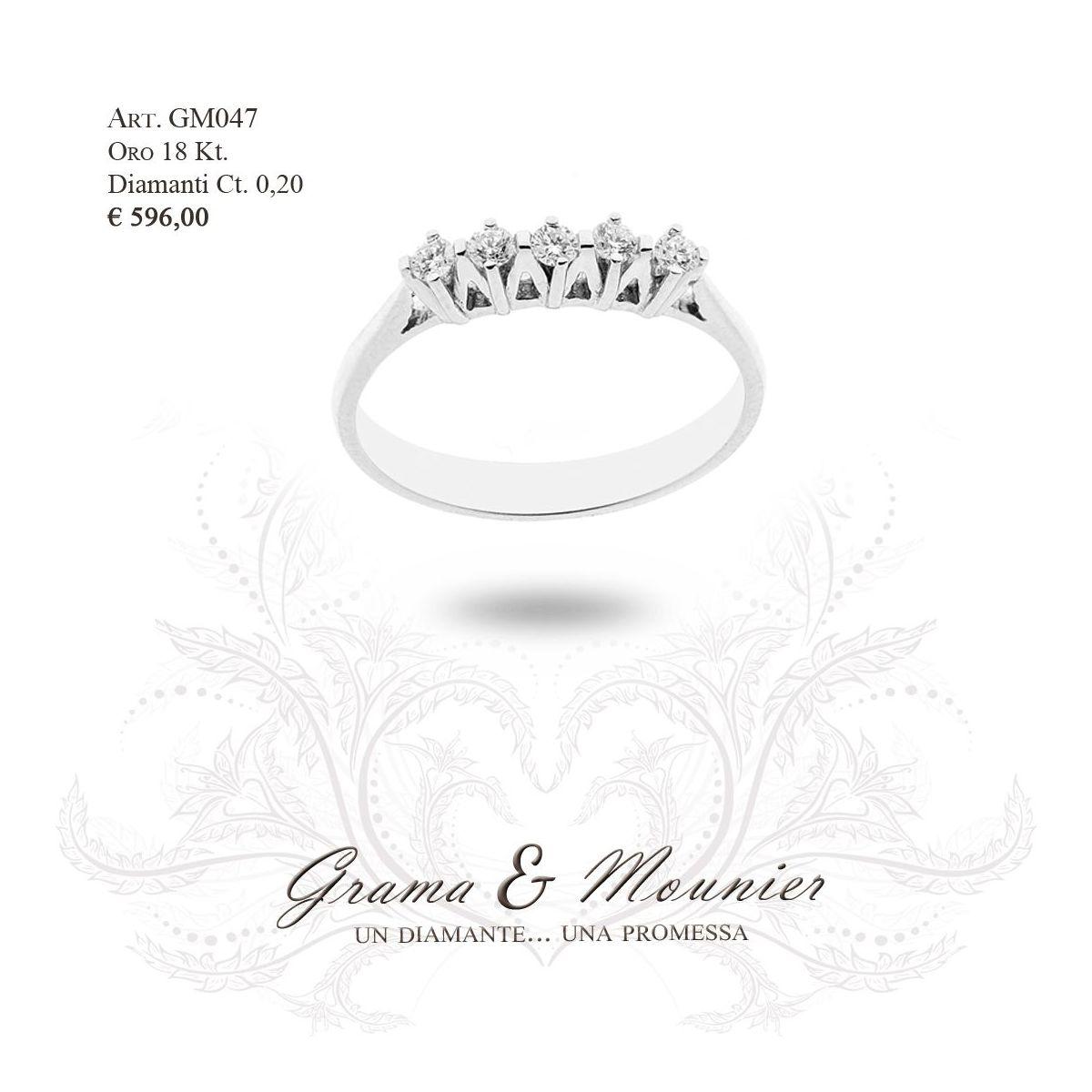 Anello in oro 18Kt. Grama&Mounier Art.GM047