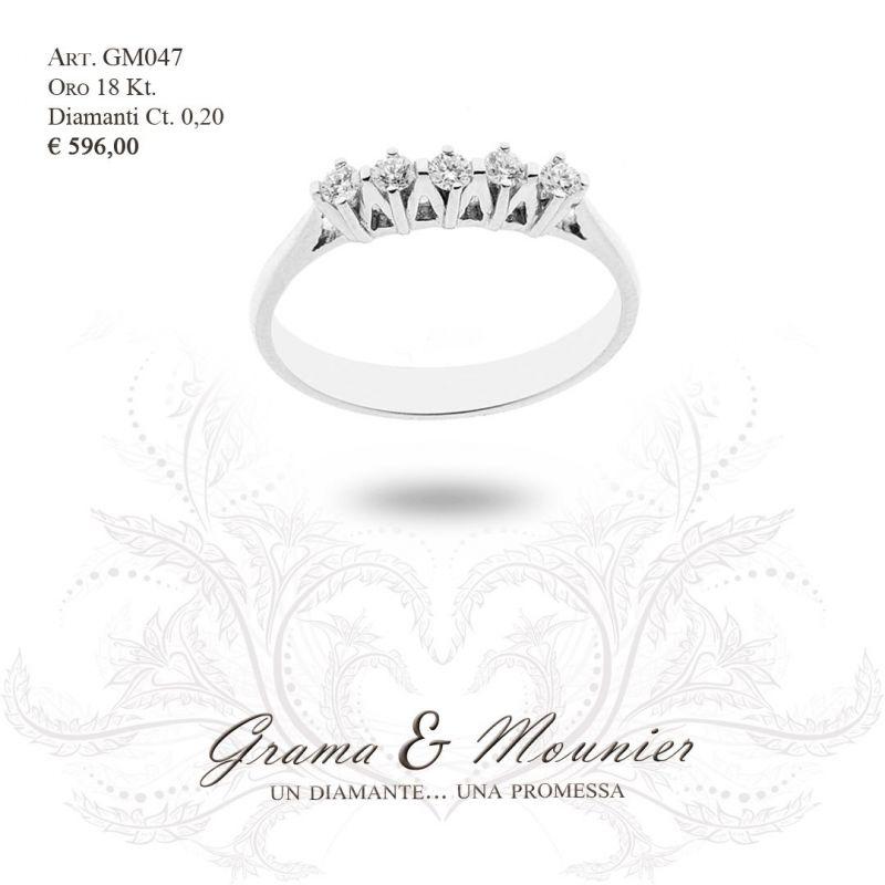 Anello Veretta in oro 18Kt Grama&Mounier Art.GM047