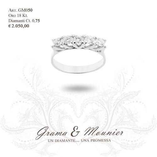 Anello Veretta in oro 18Kt Grama&Mounier Art.GM050