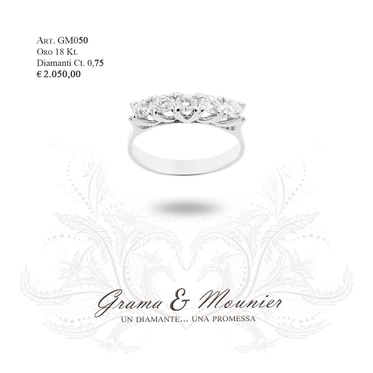 Anello in oro 18Kt. Grama&Mounier Art.GM050
