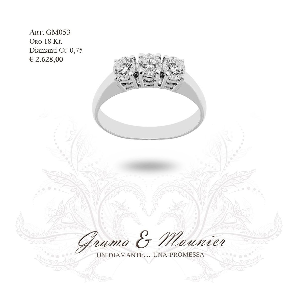Anello in oro 18Kt. Grama&Mounier Art.GM053