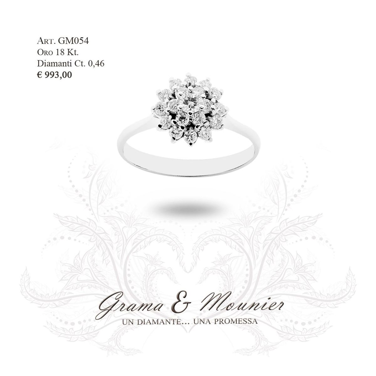Anello in oro 18Kt. Grama&Mounier Art.GM054